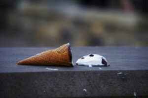 failure dropped ice-cream